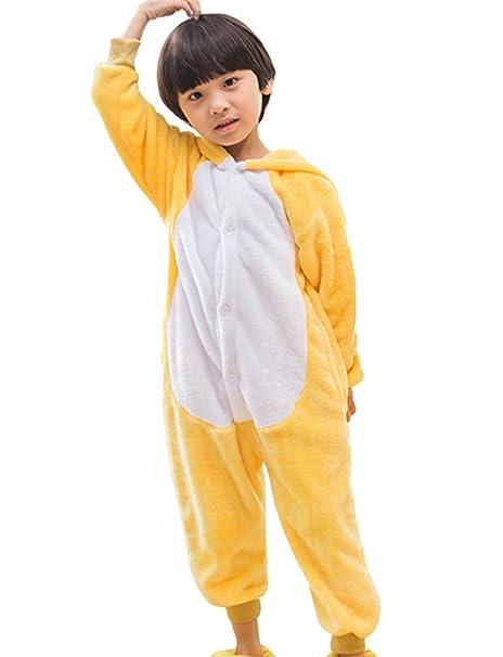 MissFox Kigurumi Pijamas Unisexo Niños Traje Disfraz Niños Animal Pyjamas Kuma 95