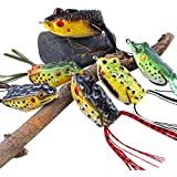 Sougayilang Hollow Frog Fishing Lures Soft Topwater Baits for Bass Snakehead Saltwater Freshwater Fishing