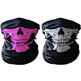 HAMIST Couples Seamless Skull Face Tube Mask Black&Pink