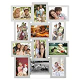 pic frame wall - Yaheetech Wall Mounted Multiple Photo Frame Picture Collage for 12 Options 4x6 Inch Hanging Photo Album White