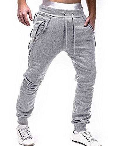 Slim Sport Gris Pants De Survêtement Clair Pantalon Sarouel Sweat Bas Homme Jogging Modchok qwHvx4UH