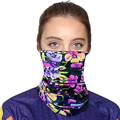 QINJLI Riding mask Windproof sunscreen sweat absorbent anti-UV seamless multi-function headscarf wristband headband bib riding mountaineering outdoor sports Estimated Price £20.99 -