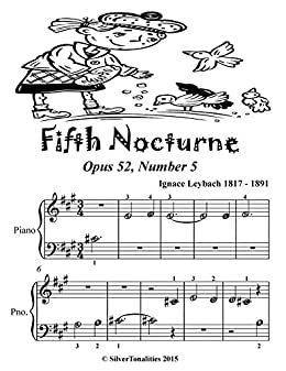 Fifth Nocturne Easy Piano Sheet Music