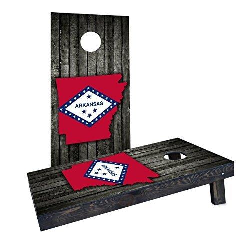値段が激安 Custom Cornhole (Arkansas) Boards CCB1540-2x4-AW Wood Slate State CCB1540-2x4-AW Wood Flag & Map (Arkansas) Cornhole Boards [並行輸入品] B07HLFN2TT, izumiジュエリーシマノ:b28d6a42 --- arianechie.dominiotemporario.com
