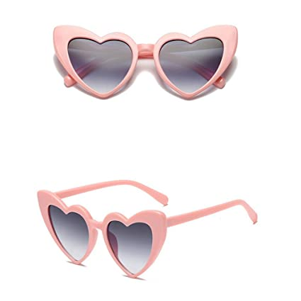 b60b285b99c Pausseo Women Heart-Shaped Shades Polarized Lens Integrated UV Sunglasses  Aviator Sports Running Cycling Fishing