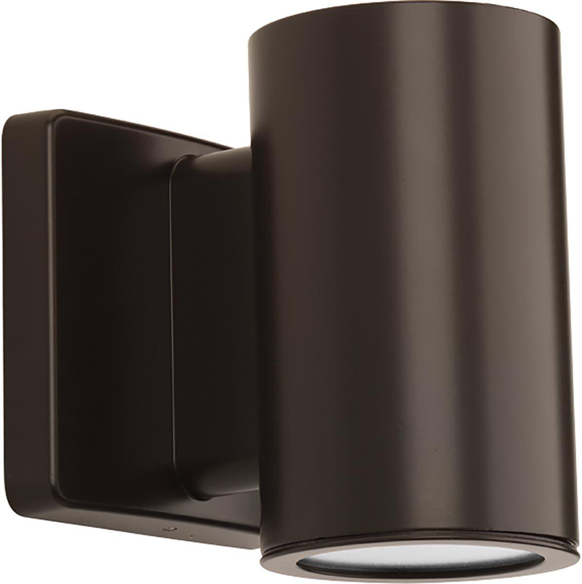 Progress Lighting P563000-020-30K 3IN Cylinders Wall Lantern, Brown