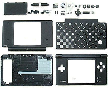 Replacement Nintendo DSi NDSI NDSi Full Housing Shell Case-Star spot black