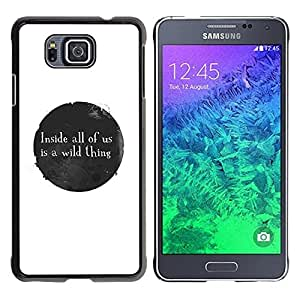 All Phone Most Case / Hard PC Metal piece Shell Slim Cover Protective Case Carcasa Funda Caso de protección para Samsung GALAXY ALPHA G850 Ink Stain Spot Bubble Black White Message