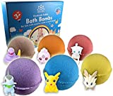 Bath Bombs For Kids with POKEMON TOYS INSIDE/Kids Bath Bombs with Surprises - Bath Bomb Kit for Girls & Boys - Multicolored Bubble Bath Bombs - Natural Safe (Bath Bombs Pokemon)