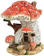 Top Collection Miniature Fairy Garden and Terrarium Red Mushroom Fairy House
