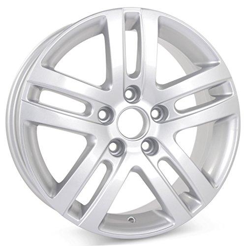 "New 16"" Alloy Replacement Wheel for Volkswagen Jetta VW 2005 2006 2007 2008 2009 2010 2011 2012 2013 2014 2015 2016 2017 Silver Rim 69812"