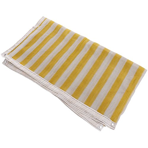 Longitude 3 Light (Tarpaulin Shade net -3 pin 6-pin yellow encryption edge insulation sunscreen nets/balcony gardening supplies/green meat shady net (Color : 6 needles, Size : 45m))