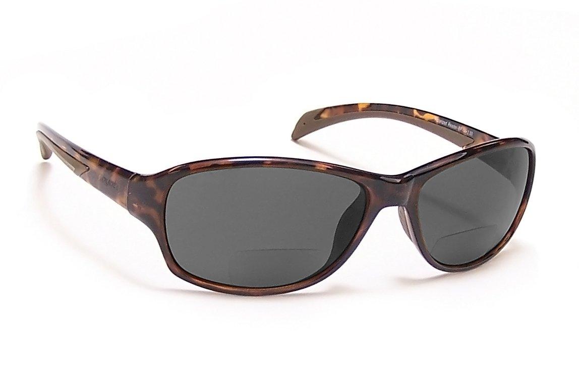 Coyote Eyewear BP-14 Polarized Bi-Focal Reading Sunglasses (2.50), Tortoise & Grey