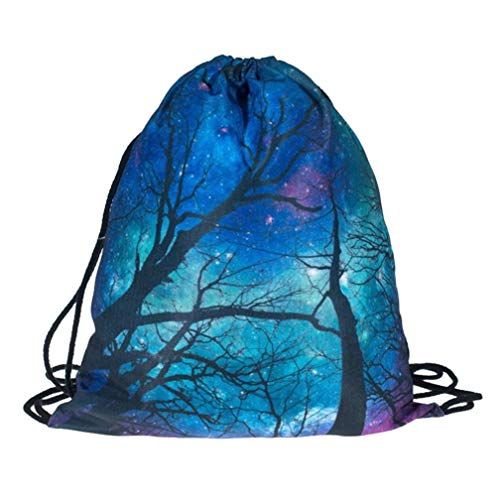 (Outsta Festival and Celebrations Halloween Non-Woven Drawstring Bag,Gift Candy Bag Bundle Pocket 3D Digital Print Bouquet Pocket Backpack Pouch Bag Simple Sack)