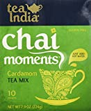 Tea India Cardamom Tea Mix - Chai Moments Cardamom Tea 10 Instant Tea Packets