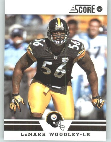 2012 Score Football Card #191 LaMarr Woodley - Pittsburgh Steelers (NFL Trading Card) 2012 Score Football Card