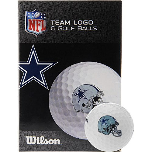 Wilson Dallas Cowboys Golf Balls - 6-Pack White