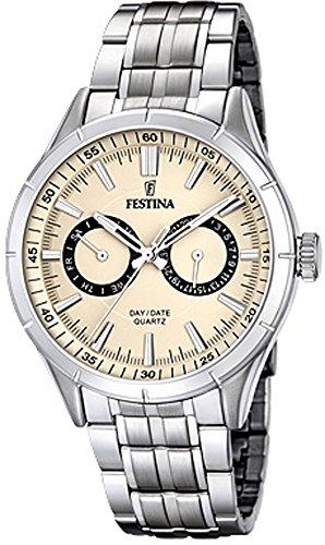 Festina F16780-2 Mens Silver Steel Bracelet Multifunction Watch