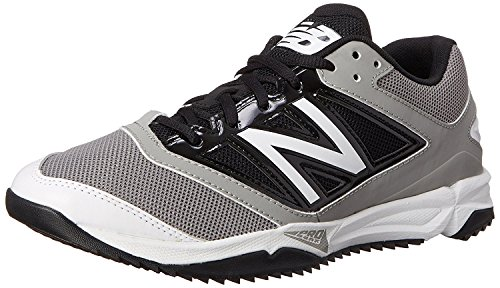 New Balance Mens T4040V3 Turf Baseball Shoe, Grey/Black, 50 EU/14.5 UK