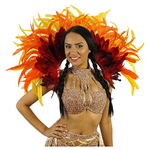 Empress Feather Carnival Costume Backpack - Adult Cosplay/Halloween -