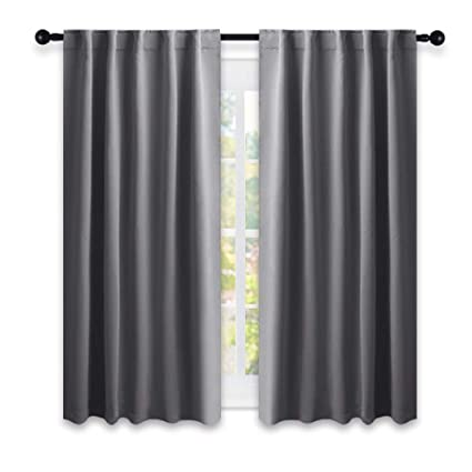 Genial NICETOWN Bedroom Curtains Blackout Drapery Panels   (Grey Color) W42 X L54,  Double