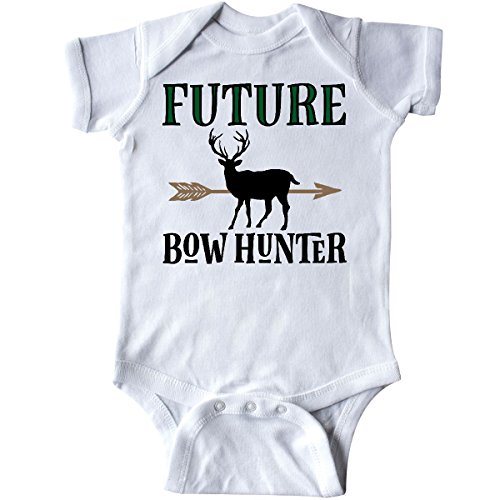 inktastic - Hunting Future Bow Hunter Infant Creeper Newborn White 2de66