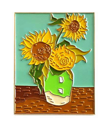 Pinsanity Van Gogh Sunflowers Painting Enamel Lapel Pin