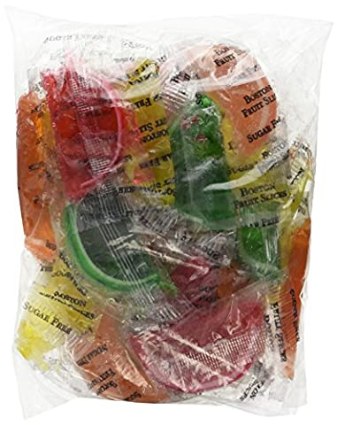 DiabeticFriendly Sugar Free Assorted Fruit Fruit Slices, Orange, Cherry, Lime & Lemon, Individually Wrapped, 1lb - Diabetic Sugar Free Candy