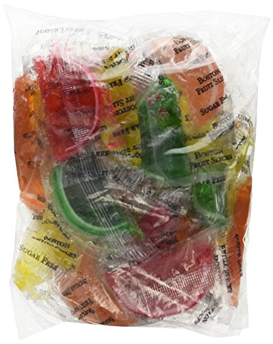 DiabeticFriendly Sugar Free Assorted Fruit Fruit Slices, Orange, Cherry, Lime & Lemon, Individually Wrapped, 1lb ()