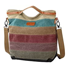 Oncefirst Retro Canvas Hobo Top Handle Cross Body Bag Tote Handbags