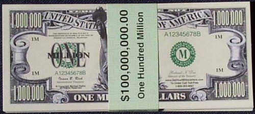 Money 100 Dollar Bill (Set of 100 Million Dollar)