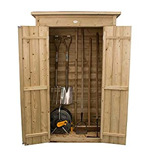 Forest Wooden Pressure Treated Pent Tall Storage Shed – Assembly Available