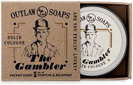 The Gambler Bourbon-inspired Solid Cologne - The Warm Smell of Whiskey and Tobacco, Finished with a Hint of Leather - Smells like Fortune and Boldness - 1 oz - Men's or Women's Solid Cologne