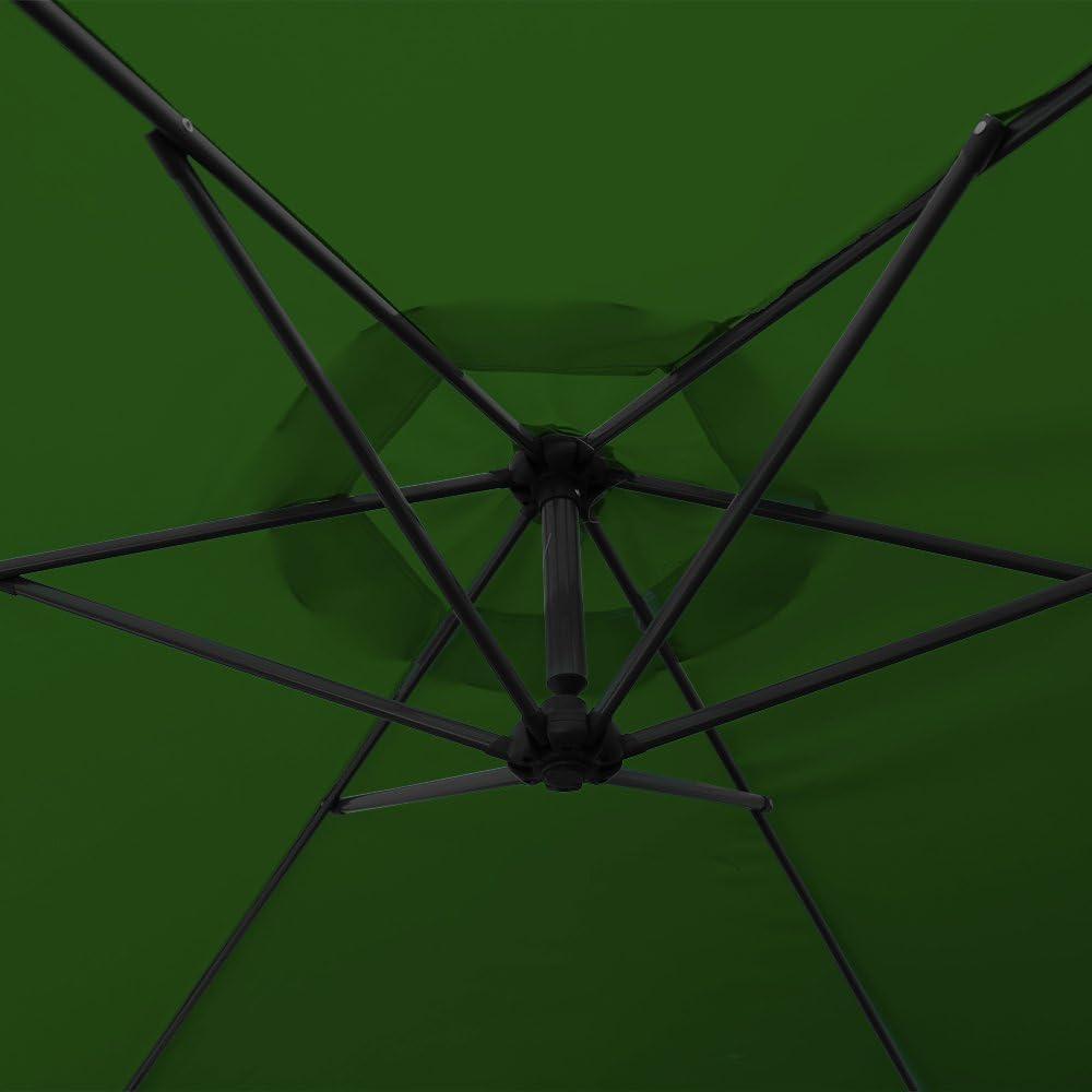 Wasserabweisende Bespannung Sonnenschirm Schirm Gartenschirm Marktschirm Kurbelschirm wolketon Alu Ampelschirm mit Kurbelvorrichtung UV-Schutz 30