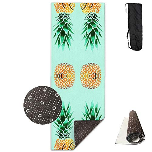 Aloha Pineapple,Eco-Friendly Non-Slip Yoga Mat Thick Pro Exercise and Pilates Mat with A Yoga Bag Waterproof Yoga Mats Fitness