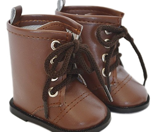 Boots Doll (BROWN TIE BOOTS FOR AMERICAN GIRL DOLLS)