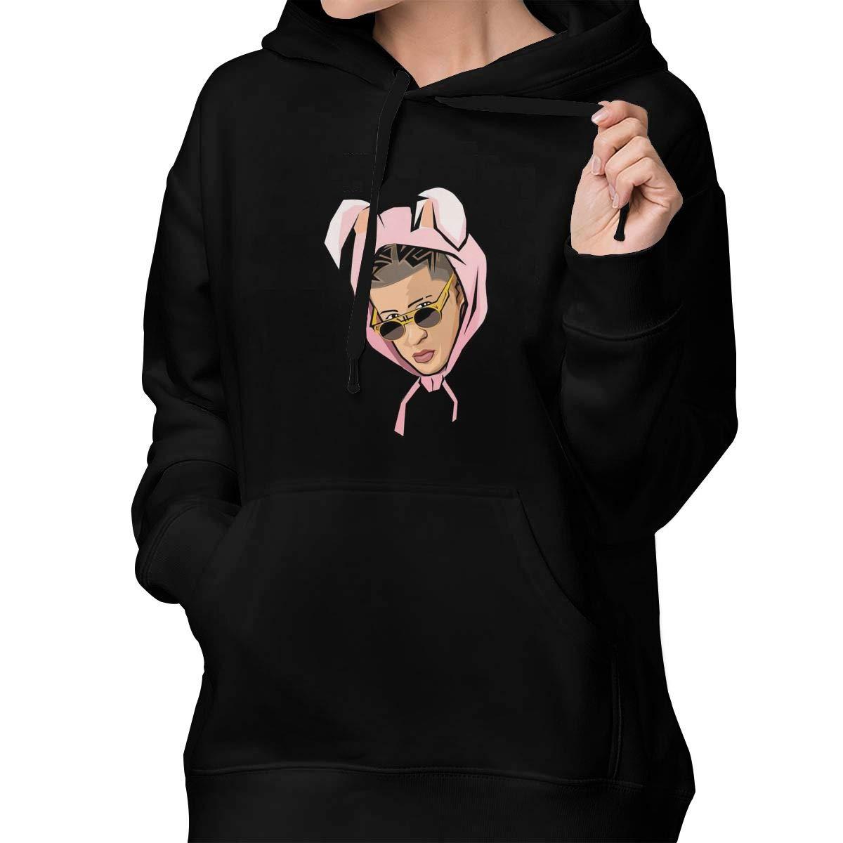2d9871669926d Amazon.com: Ishanqudi Ladies Bad-Bunny Fashion Adult Custom Hoodie ...