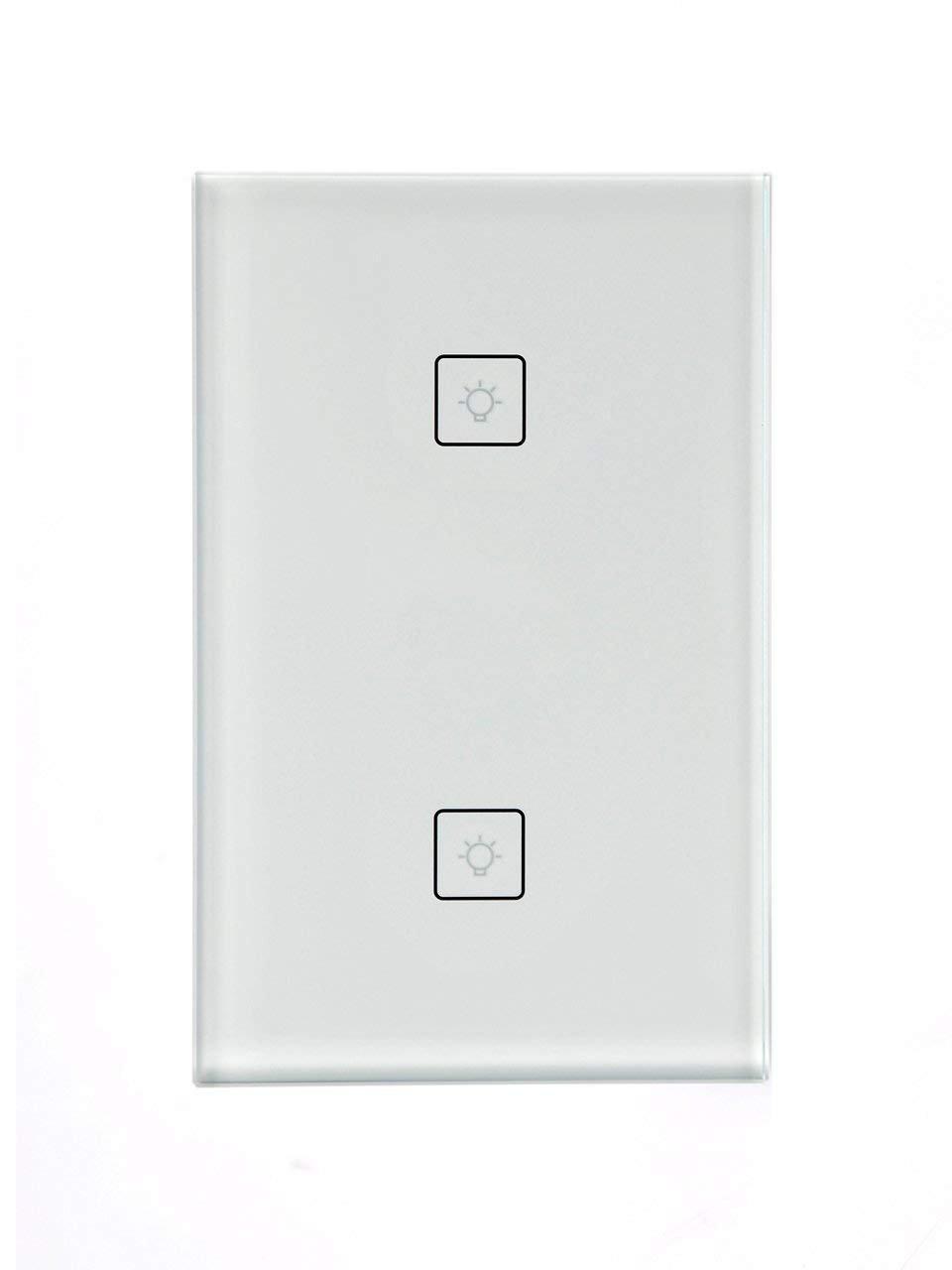 Smart Switch Wi-Fi Wall Light switch Amazon Alexa Echo and Google Home 2 in 1 Gang Box