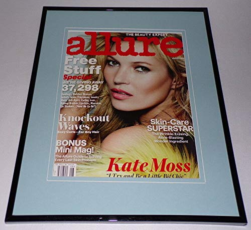 Kate Moss 2013 Allure Magazine Framed 11x14 ORIGINAL Cover - Allure Framed