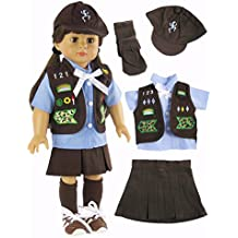 """Girl Scout Brownie Outfit   Fits 18"""" American Girl Dolls Made such as American Girl, Madame Alexander, Our Generation, etc   18 Inch Doll Clothes  """