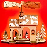 SIKORA P34 Wooden Christmas Pyramid for Tea Lights - WINTER HOUSE