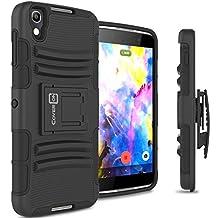 Blackberry DTEK50 Case, CoverON® [Explorer Series] Holster Hybrid Armor Belt Clip Hard Phone Cover For Blackberry DTEK50 Case - Black