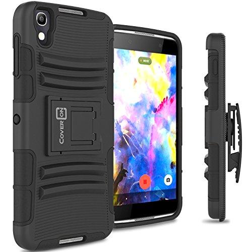 Blackberry DTEK50 Case, CoverON [Explorer Series] Holster Hybrid Armor Belt Clip Hard Phone Cover For Blackberry DTEK50 Case - Black