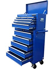153 US PRO TOOLS BLUE AFFORDABLE TOOL CHEST TOOL CABINET ROLLCAB TOOL BOX ROLLER CAB
