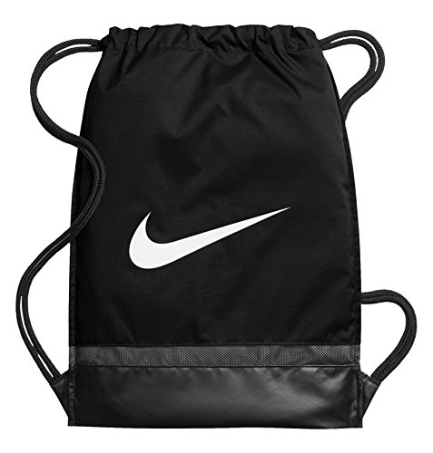 NIKE Brasilia Gymsack, Black/Black/White, One Size by NIKE