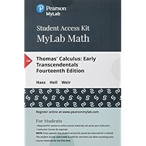 thomas calculus early transcendentals single variable plus mylab math with pearson etext titlespecific access card package 14th edition