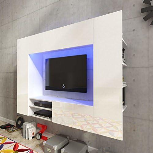 Tidyard Mesa para TV Mueble TV Sal/ón Mesa Televisi/ón Mueble Comedor Televisor con 4 Ruedas de Estilo Retro Madera Maciza de Mango 100x40x45cm