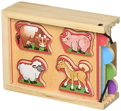 Melissa & Doug Animals Wooden Mini-Puzzle-Pack (Four 4-Piece Puzzles With Storage Case) (Bands That Sound Like Fall Out Boy)