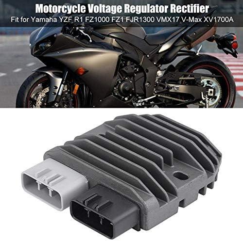 Kimiss Aluminium Motorrad Spannungsgleichrichter Regler Gleichrichter Für Yzf R1 Fz1000 Fz1 Fjr1300 Vmx17 V Max Xv1700a Auto