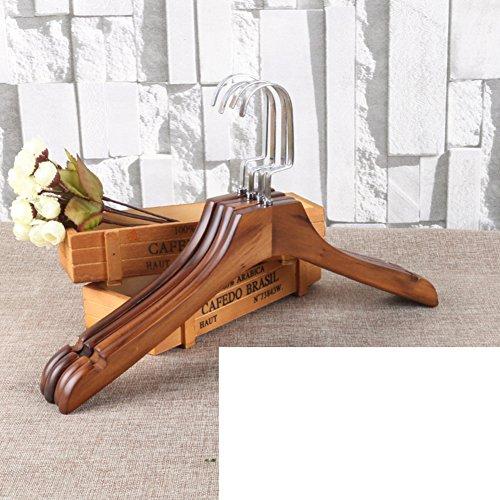 vintage solid wood coat hang/Coat hanger/clothes hook /Anti-sliding wooden hangers clothing (Adult Storea)